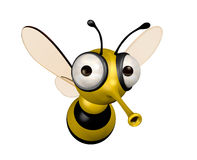 Funny bee. Three dimensional funny bee illustration Royalty Free Stock Photos