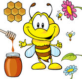 Funny bee cartoon Royalty Free Stock Photography