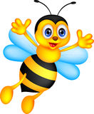 Funny bee cartoon vector illustration