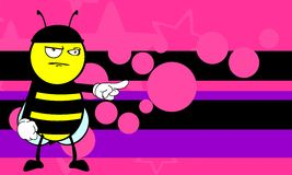 Funny bee cartoon background Stock Photo