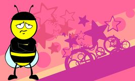 Funny bee cartoon background2 Stock Image