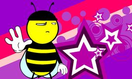 Funny bee cartoon background3 Royalty Free Stock Image
