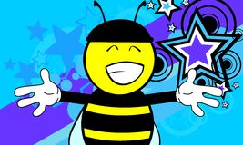 Funny bee cartoon background4 Royalty Free Stock Photo