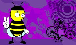 Funny bee cartoon background5 Royalty Free Stock Photography