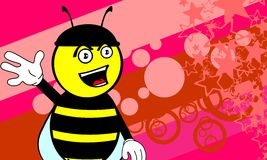 Funny bee cartoon background7 Royalty Free Stock Photography