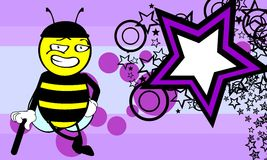 Funny bee cartoon background8 Stock Images