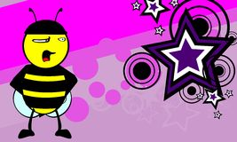 Funny bee cartoon background9 Royalty Free Stock Image