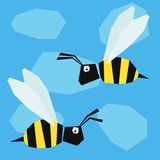 Funny bee. Cartoon bright colored graphic abstract illustration Royalty Free Stock Photo