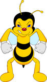 Funny bee cartoon Royalty Free Stock Image