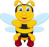 Funny bee cartoon Royalty Free Stock Images