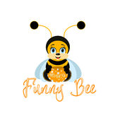 Funny bee Royalty Free Stock Images