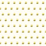 Funny bee seamless pattern background. Vector illustration, eps 10 Stock Photos