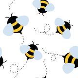 Bee seamless pattern. honey vector. Funny bee seamless pattern. honey vector illustration royalty free illustration