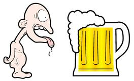 Funny beer. Creative design of drink beer Stock Image
