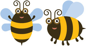 Funny bees Stock Photo