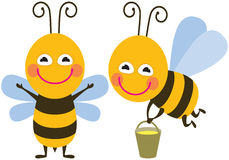 Funny bees Stock Photography