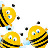 Funny bees. On white background vector illustration