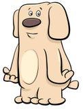 Funny beige dog pet cartoon character Royalty Free Illustration