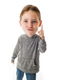 Funny Big Head Child. On white background Stock Images