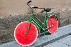 Funny bike on the street in Florence, Italy Royalty Free Stock Images