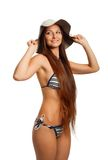 Funny bikini girl Stock Images