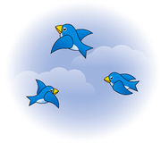 Funny birds. Abstract illustration of funny birds Stock Photos