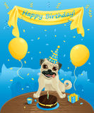 Funny birthday card Royalty Free Stock Photo