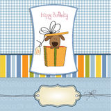 Funny birthday card with dog Royalty Free Stock Photography