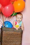 Funny birthday girl Stock Photo