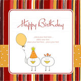 Funny birthday party greeting card Stock Image