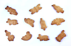 Funny biscuits Stock Images