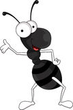 Funny black ant cartoon Royalty Free Stock Images