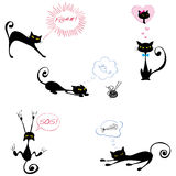 Funny black cats Royalty Free Stock Image