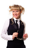 Funny blonde Royalty Free Stock Photo