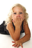 Funny blonde child portrait Royalty Free Stock Photography