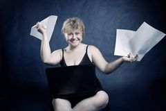 Funny blondie Royalty Free Stock Photos