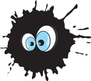 Funny blot with eyes Royalty Free Stock Photos