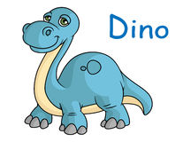 Funny blue dino Stock Image