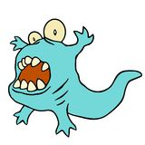 Funny blue dinosaur. Vector illustration. royalty free stock image