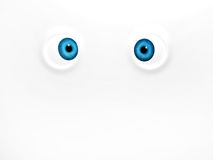 Funny blue eyes on white background. 3d render Royalty Free Stock Photography