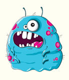 Funny blue monster Royalty Free Stock Photography