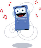 Funny Blue Mp3 Player Royalty Free Stock Image