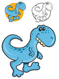 Funny Blue Tyrannosaurus Stock Images