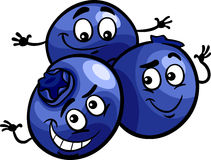 Funny blueberry fruits cartoon illustration Royalty Free Stock Image