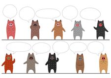 Funny boars border with speech bubbles. For Asian new year card designs vector illustration