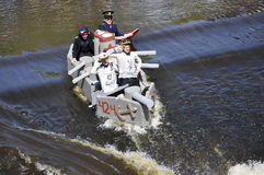 A funny boat race Stock Photo