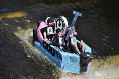 A funny boat race Royalty Free Stock Images