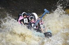 A funny boat race Royalty Free Stock Photo