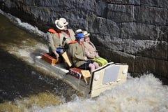 A funny boat race Stock Photos