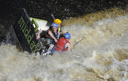 A funny boat race Stock Image